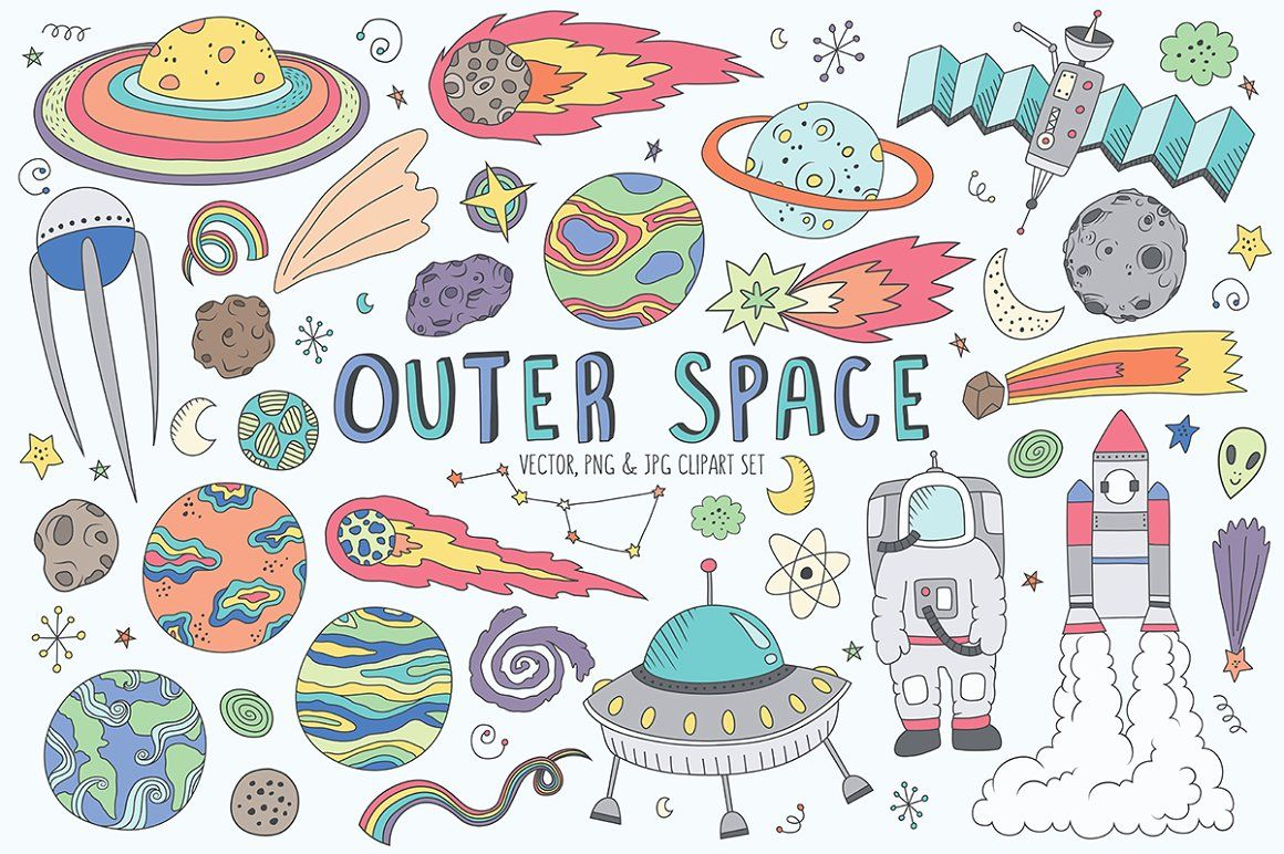 Astronomy clipart cute. Pin on doodles