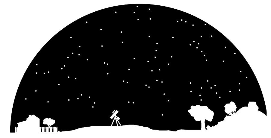 Day camp pozna robocik. Astronomy clipart evening