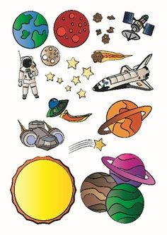 Astronomy clipart faraway. Watercolor planets clip art