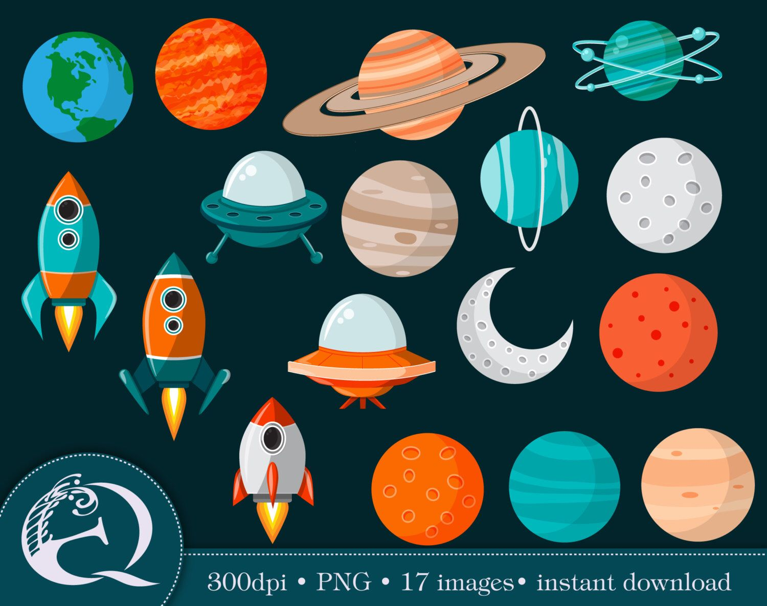 Astronomy clipart faraway. Outer space clip art