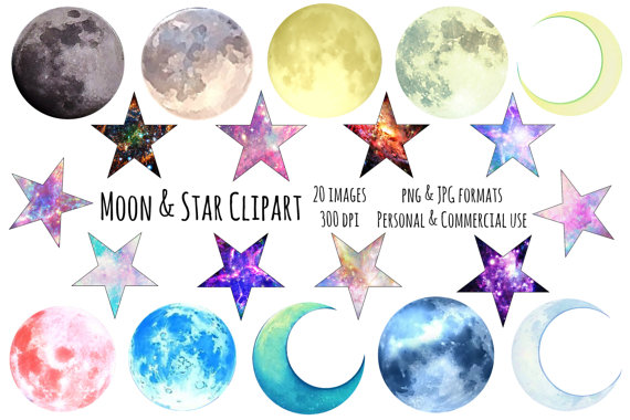 Astronomy clipart galaxy. Moon and stars png