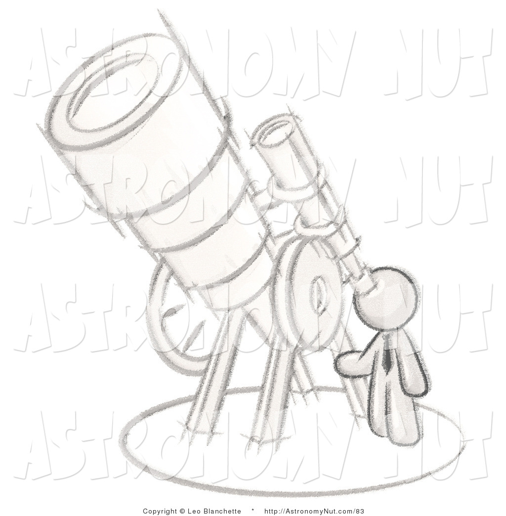Astronomy clipart illustration. Of a sketched design