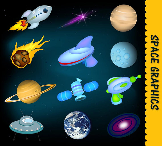 Space clip art graphic. Astronomy clipart kid