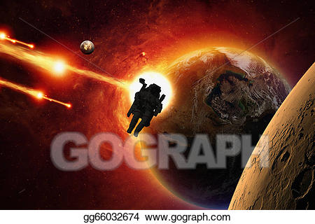 Stock illustration gg . Universe clipart mission to mars