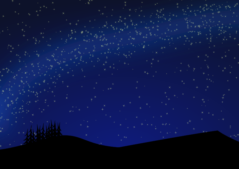 Nightscape medium image png. Astronomy clipart night sky