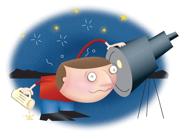 The abcs of observing. Astronomy clipart observer