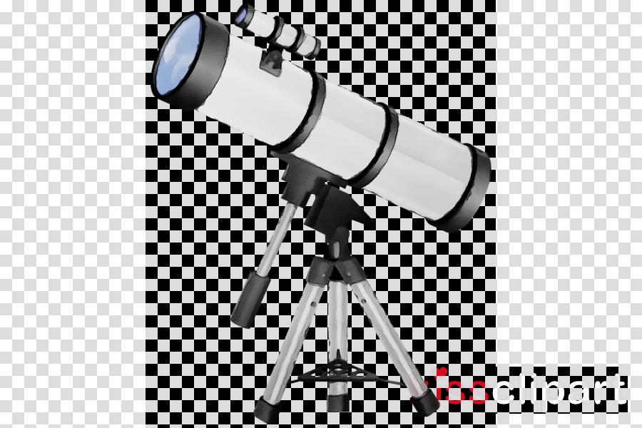 Instrument telescope tripod camera. Astronomy clipart optical