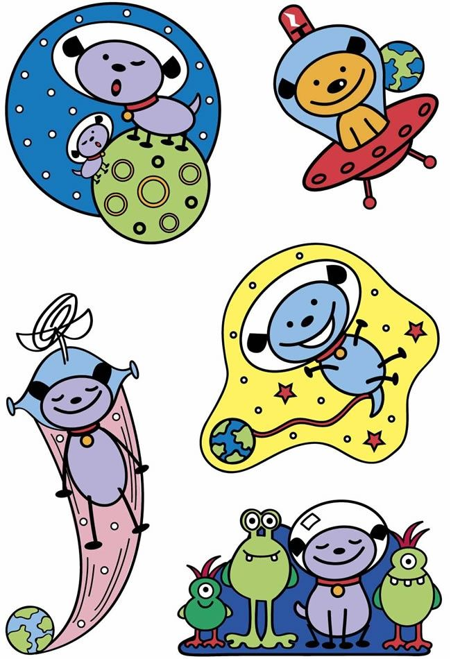 Astronomy clipart outer space. Clip art aliens
