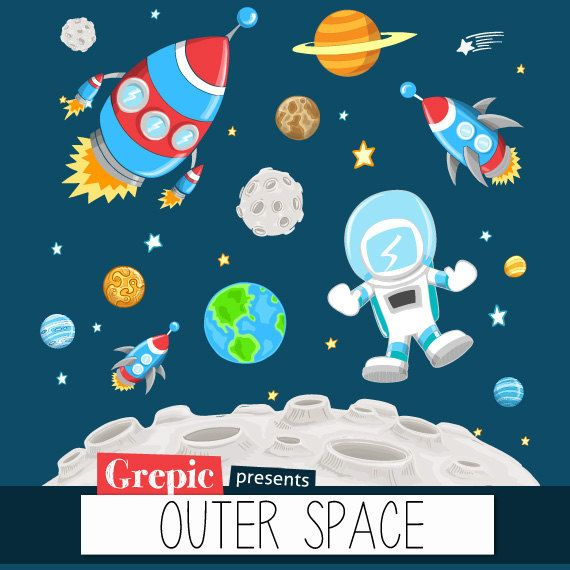 Astronomy clipart outer space. Clip art pack with