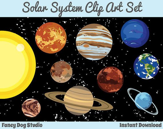 Astronomy clipart planet. Solar system art outer