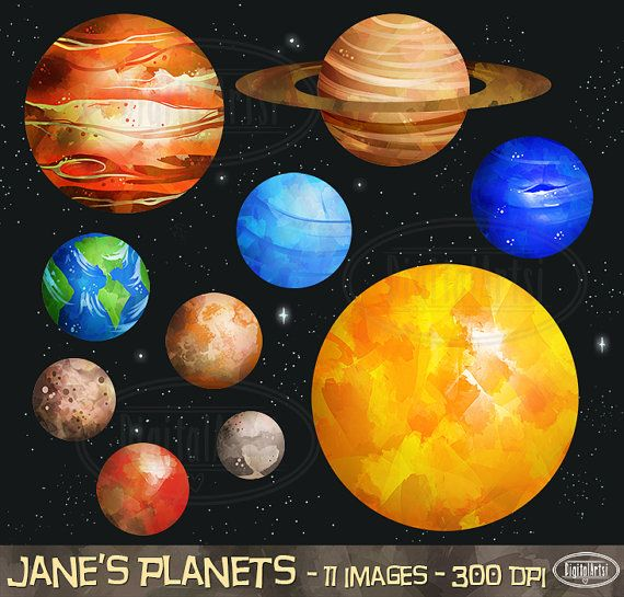 Solar system download instant. Planets clipart outer space