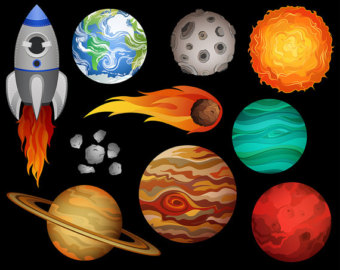 Etsy outer space clip. Astronomy clipart planet
