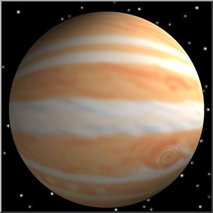 Jupiter clipart. Clip art planets d