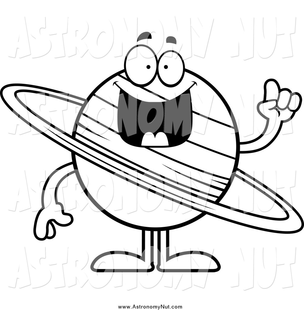 Of a black and. Astronomy clipart saturn