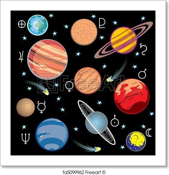 Free art print of. Planets clipart artwork
