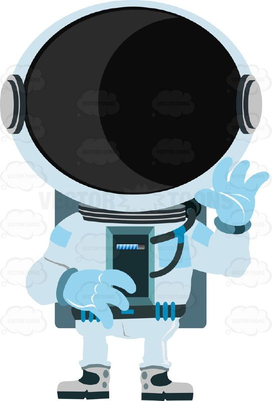 Astronaut in suit with. Astronomy clipart space exploration