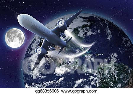 Stock illustration gg gograph. Astronomy clipart space flight
