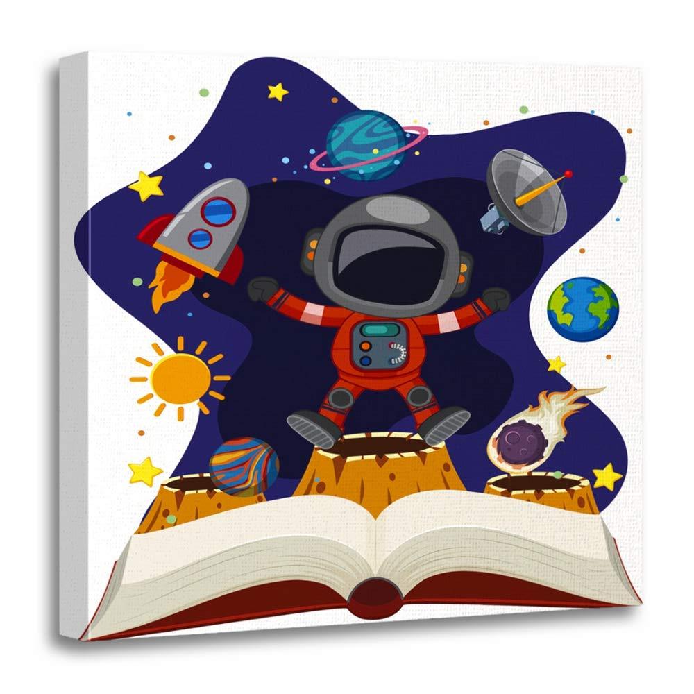 Astronomy clipart space scientist. Amazon com emvency canvas
