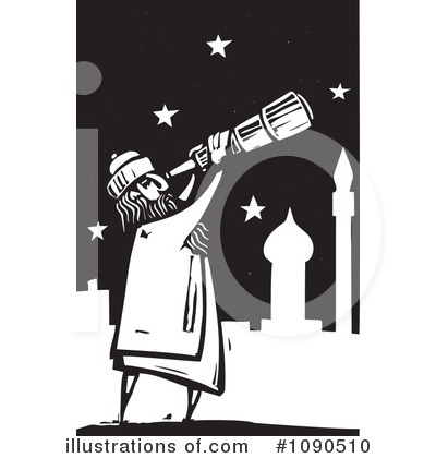 Illustration by xunantunich . Astronomy clipart stargazing