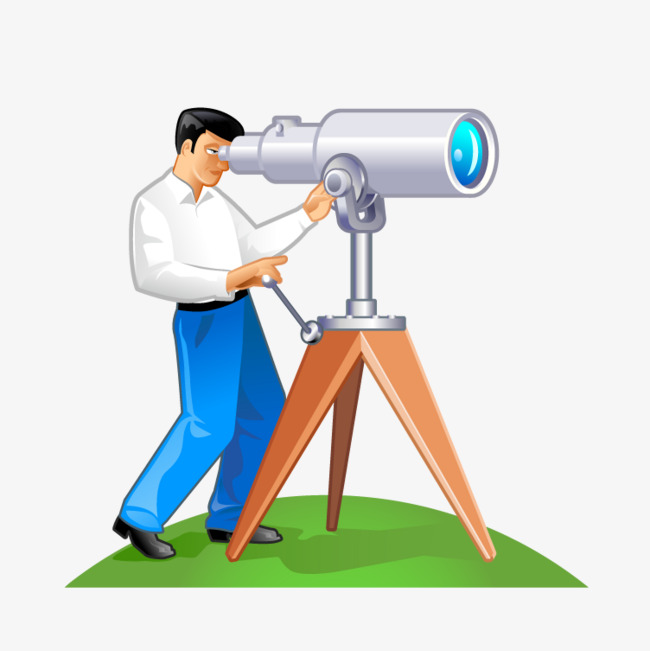 Astronomers used the telescope. Astronomy clipart stargazing