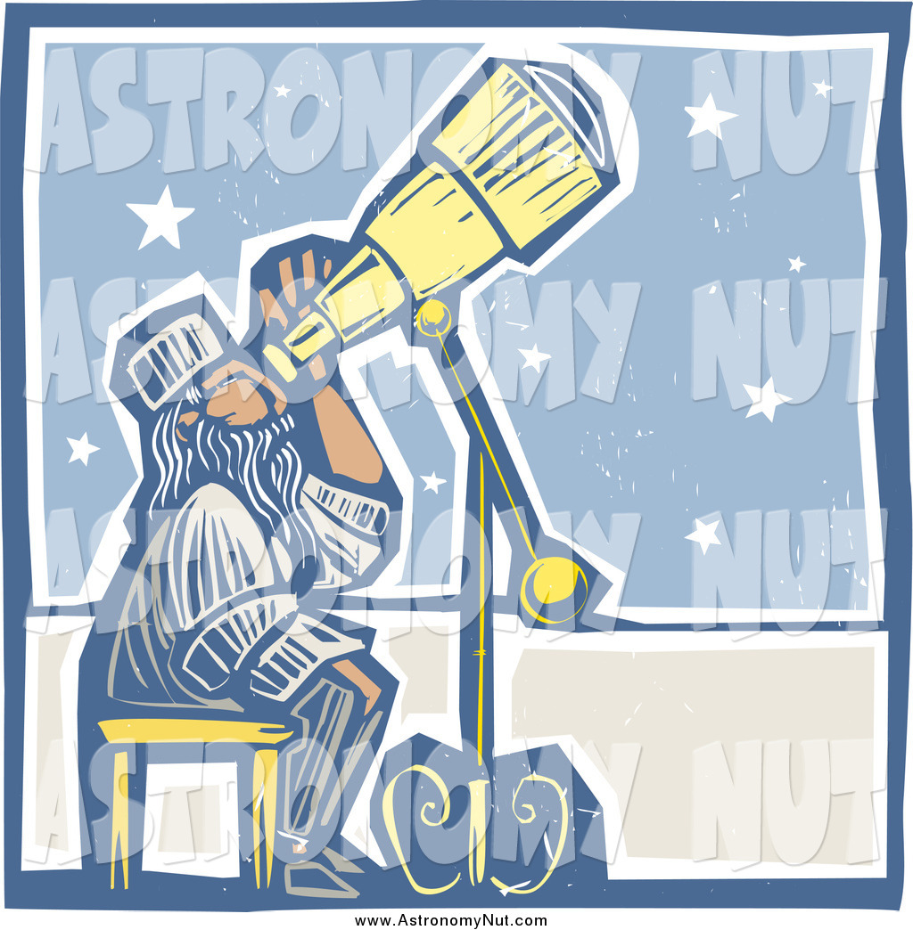 Royalty free telescope stock. Astronomy clipart stargazing
