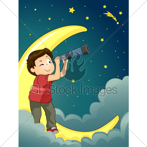 Astronomy clipart stargazing. Kid boy star gazing