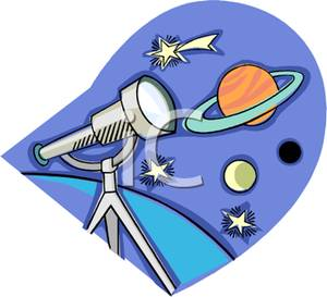 Astronomy clipart telescope star. A looking at planets