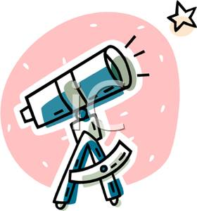 Picture a pointed at. Astronomy clipart telescope star