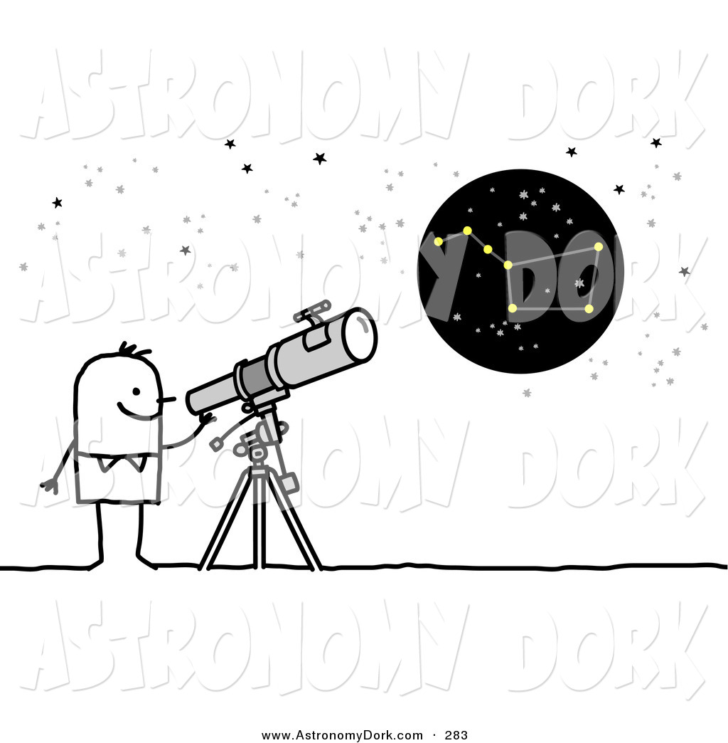 Clip art of a. Astronomy clipart telescope star