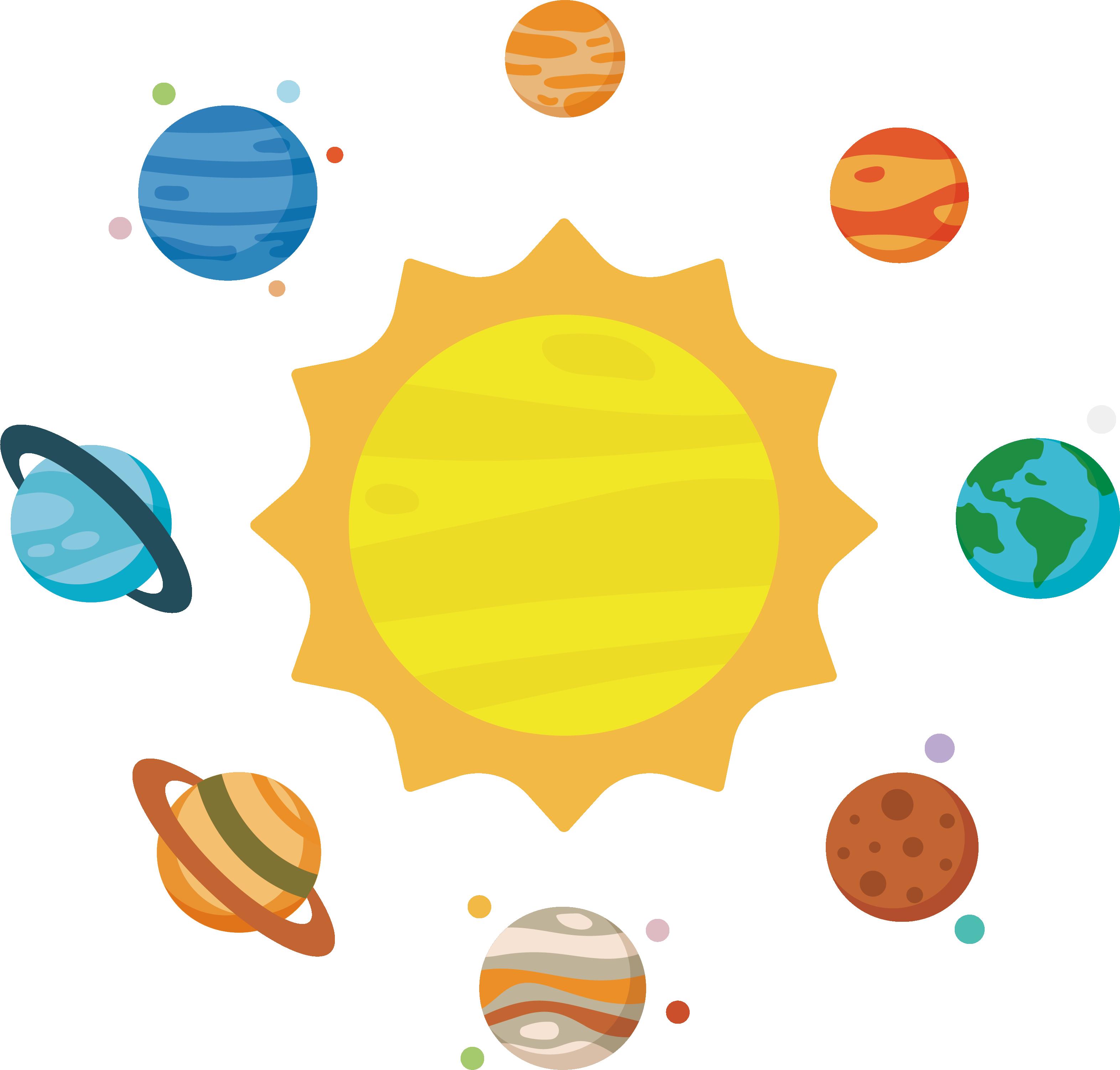 Solar system planet clip. Astronomy clipart transparent