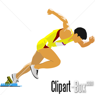 m clipground sprinter. Athlete clipart 100m