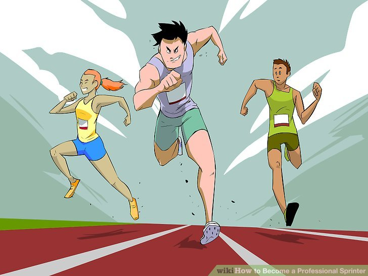 How to become a. Athlete clipart 100m