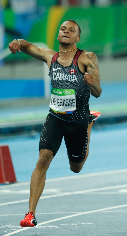 Andre de grasse wikipedia. Athlete clipart 100m