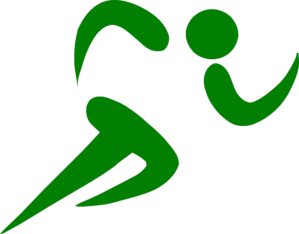 Athlete clipart. Green runner clip art