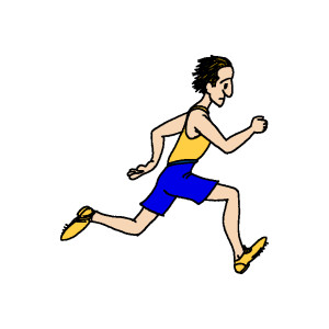 Athlete . Athletic clipart athletic person