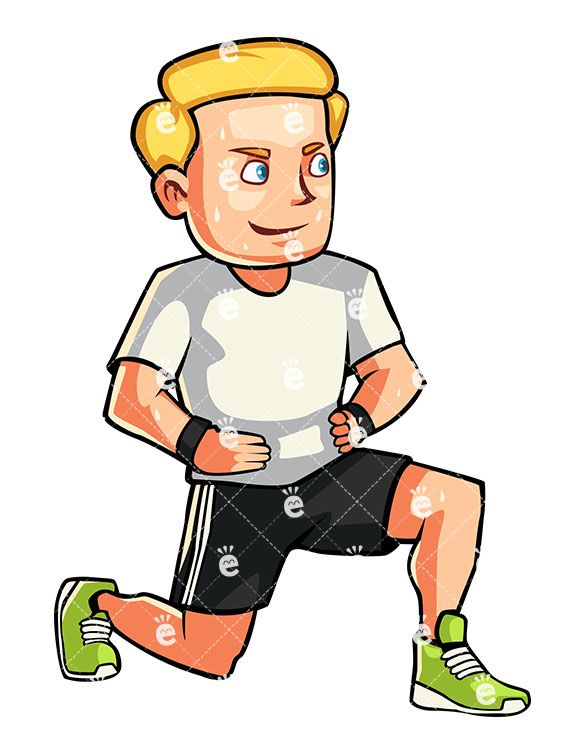 Exercising clipart exercise man. A doing lunges friendlystock