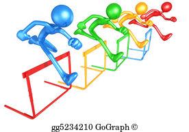 Stock illustration running hurdles. Athlete clipart agility