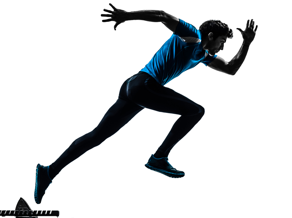 Speed and power training. Athlete clipart agility