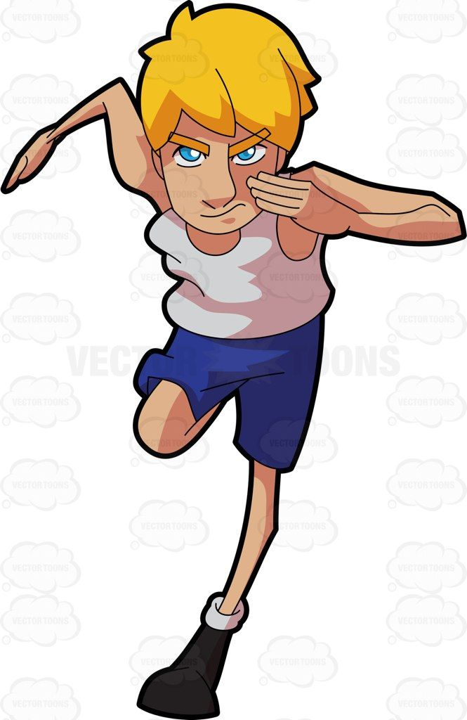 A track athlete fast. Athletic clipart running man