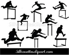 Athlete clipart approach. Track and field silhouettes