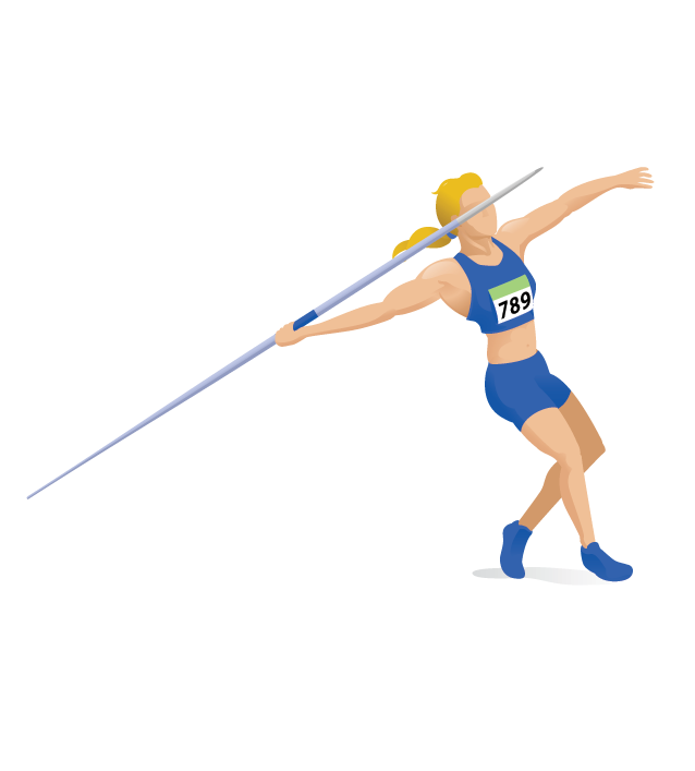 Women s javelin pbs. Athlete clipart approach