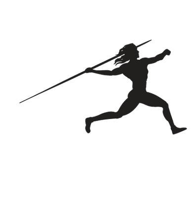 Women s javelin the. Athlete clipart approach
