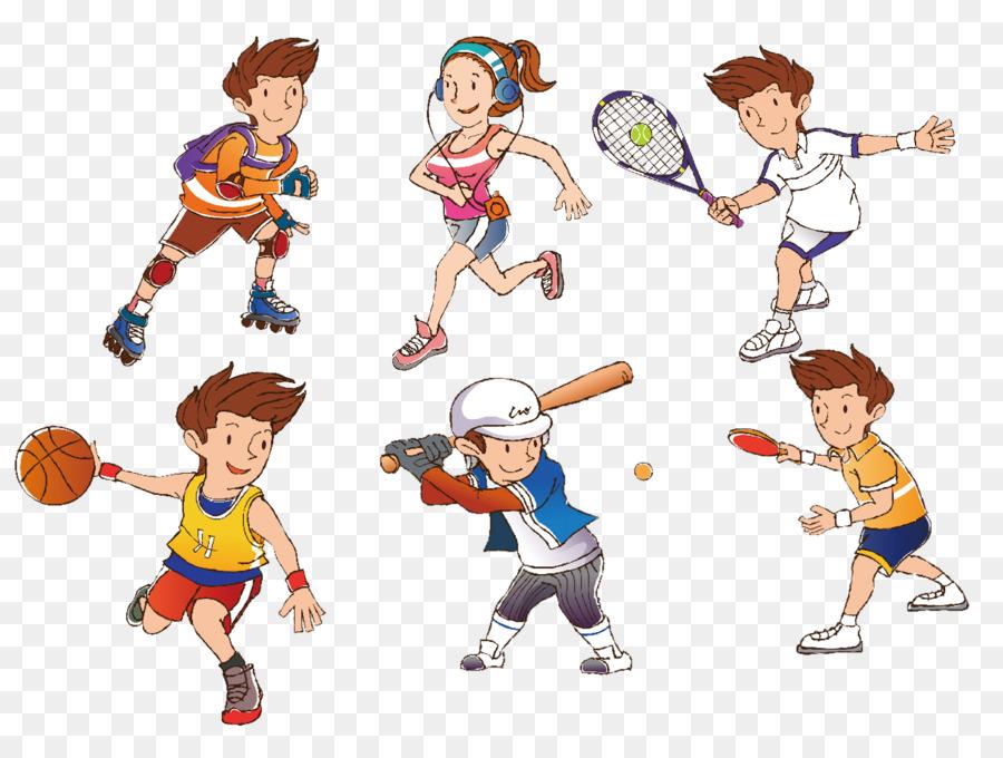 Cartoon sport clip art. Athlete clipart athelete