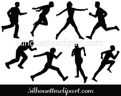 Athlete clipart athelete. Athletics silhouette clip art