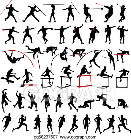 Athletics clip art royalty. Athletic clipart