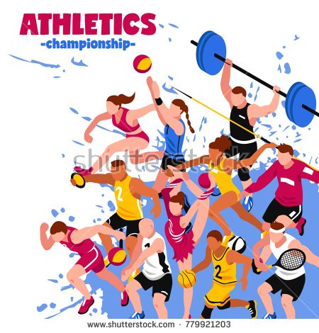 Stock photo colorful sport. Athlete clipart athletic game