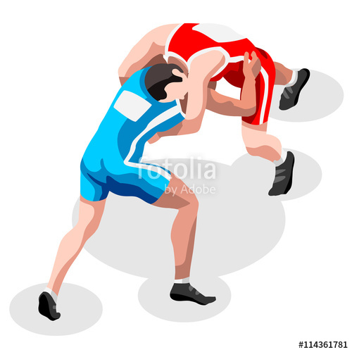 Athletic clipart athletics games. Wrestling freestyle fight summer