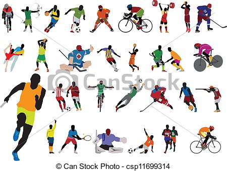 Athletic clipart athletics event. Olympic games pencil and