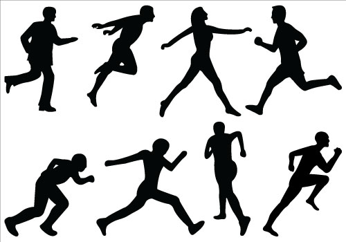 Athletic clipart athletic person. Sports cliparts religious silhouette