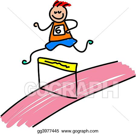 Race clipart kid athletic. Stock illustration gg gograph